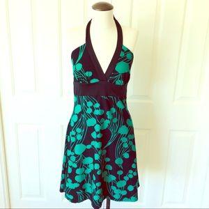Alyn Paige Medium Green And Black Halter Dress